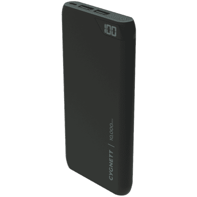 ChargeUp 10,000 mAh Dual USB Powerbank - Black