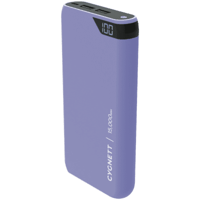 ChargeUp 15,000 mAh Dual USB Powerbank - Lilac