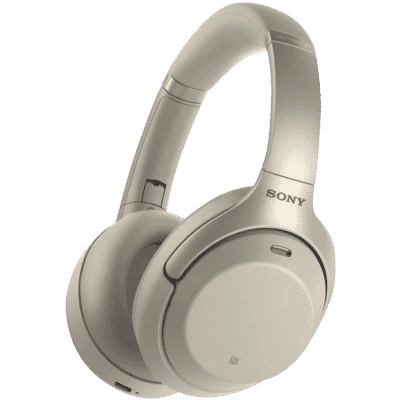 Sony - Flagship Wireless Headphones with Digital Noise Cancelling - Silver