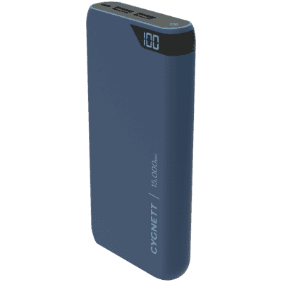 ChargeUp 15,000 mAh Dual USB Powerbank - Navy