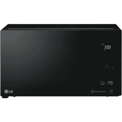 LG - 25L 1100W NeoChef, Smart Inverter Microwave - Black