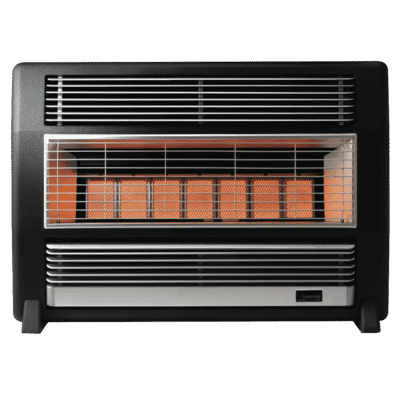 Brigadier Black NG Marble Heater Unflued